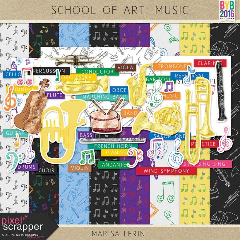 School of Art: Music Kit music build your basics red orange yellow green blue purple white black