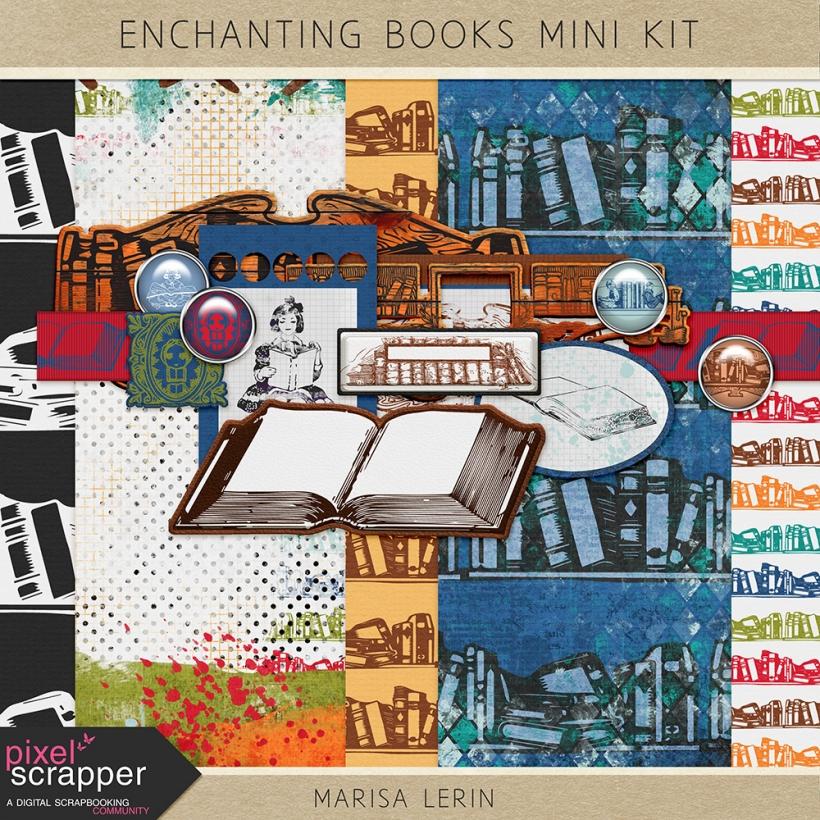 Enchanting Books Mini Kit autumn enchanting books reading red orange yellow green teal blue navy white black brown