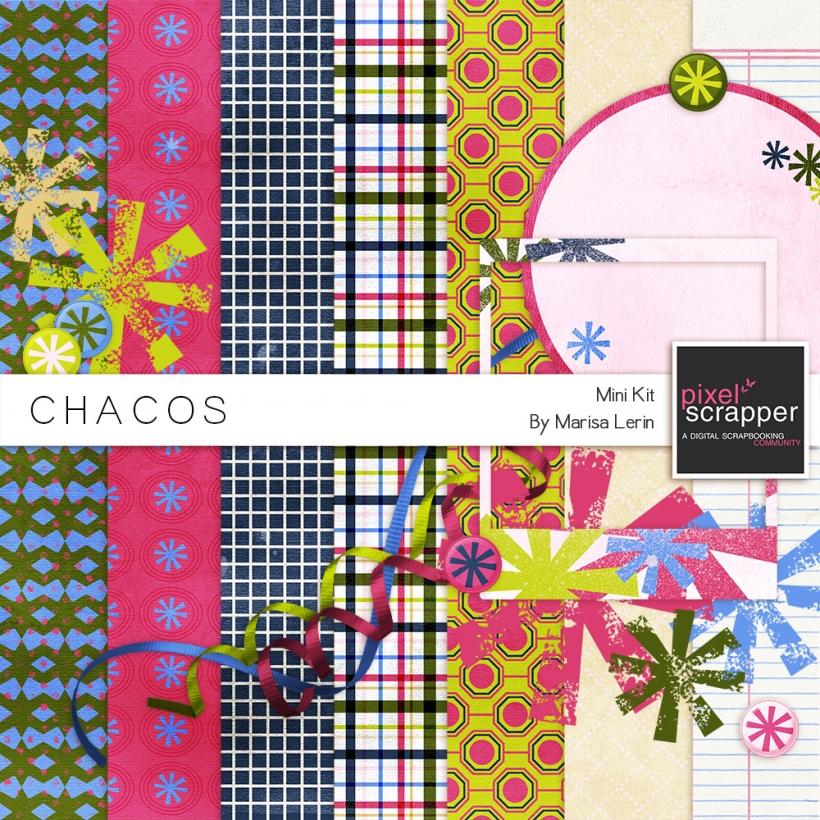 Chacos Mini Kit bright stars ribbons pink green blue white