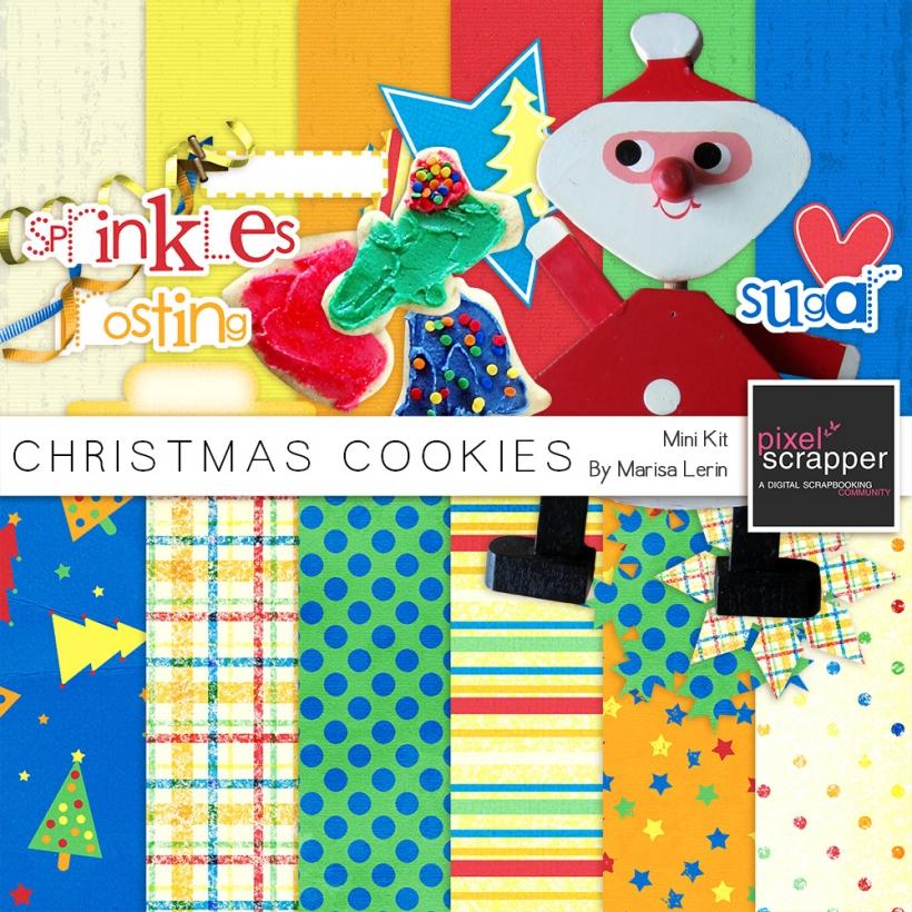 Christmas Cookies Mini Kit christmas cookies santa yellow green blue red orange white