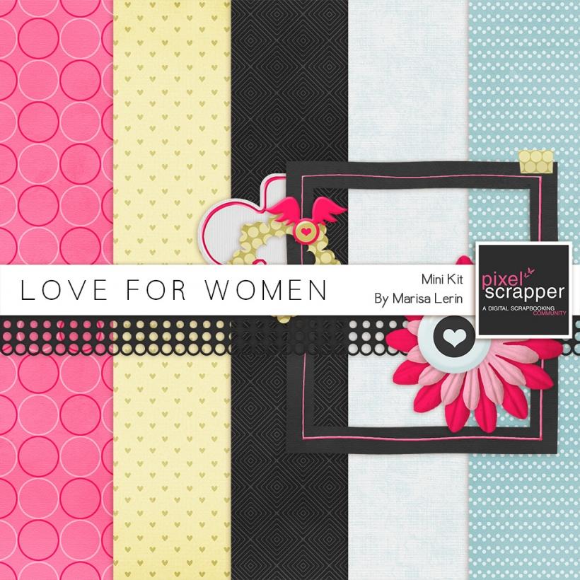 Love For Women Mini Kit bold black blue pink yellow