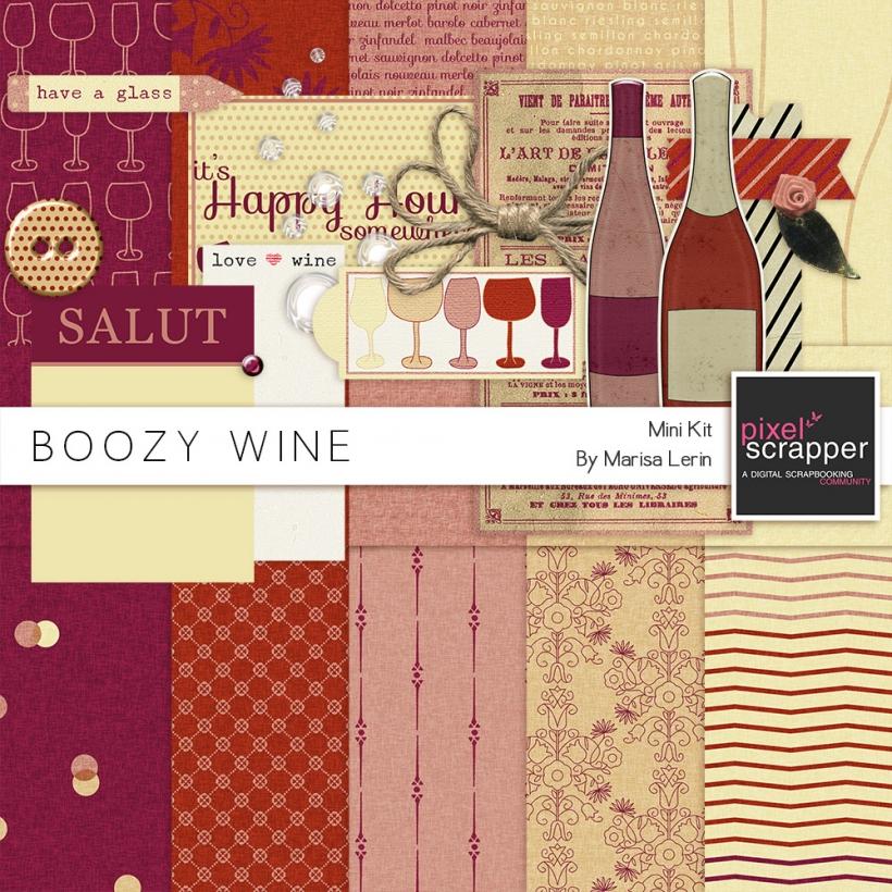 Boozy Wine Mini Kit wine pink red white