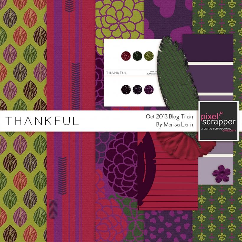 Thankful Mini Kit thanksgiving fall purple red green