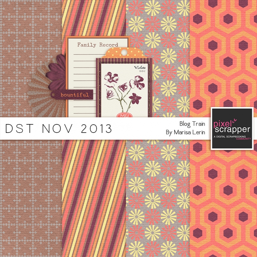 DST November 2013 Blog Train fall family orange purple brown