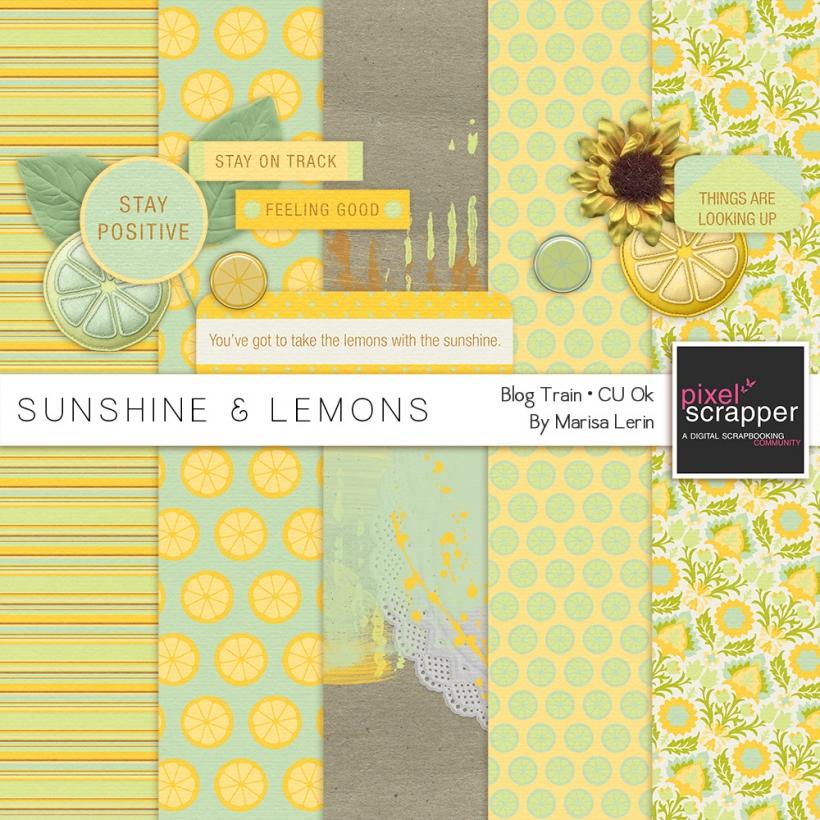 Sunshine & Lemons Mini Kit spring lemons yellow green brown