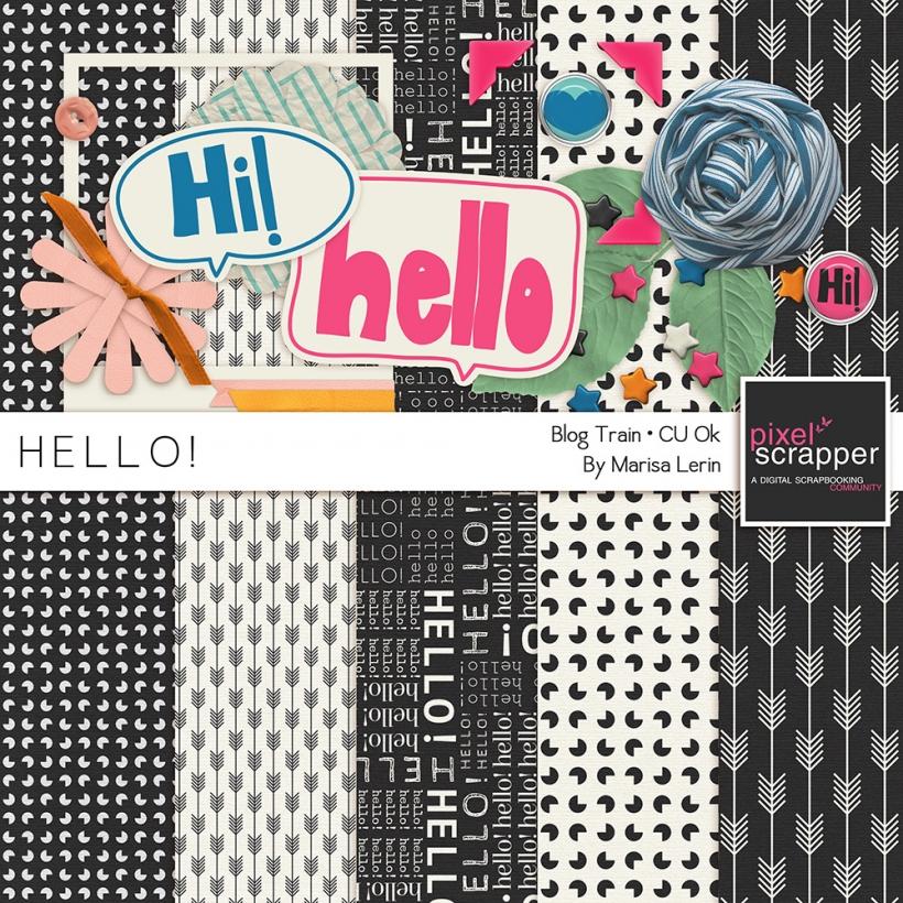 Hello! Mini Kit hello black white orange pink blue