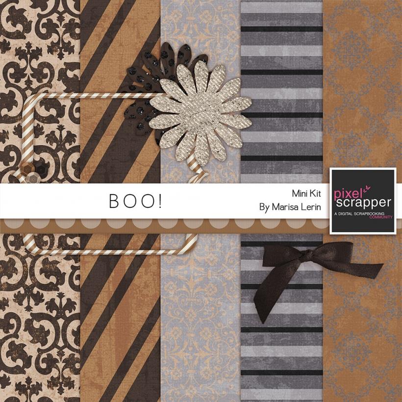 Boo! Mini Add On Kit halloween brown