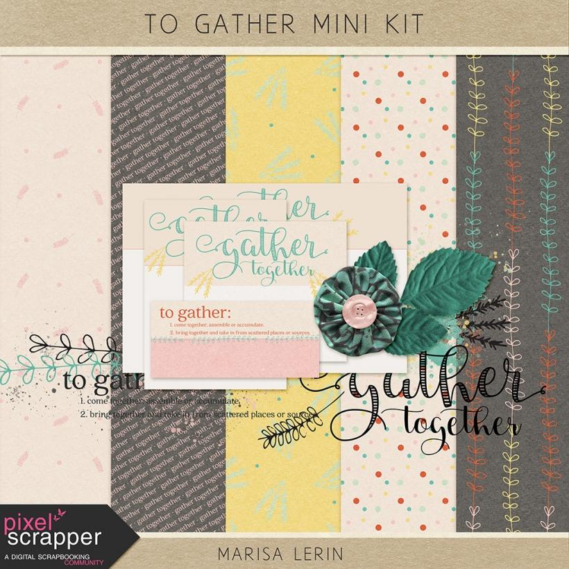To Gather Mini Kit thanksgiving fall family teal pink white gray black